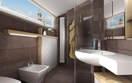 Progetti bagni moderni beautiful with progetti bagni moderni progetti bagni moderni with - Bagno mansarda rivestimento ...
