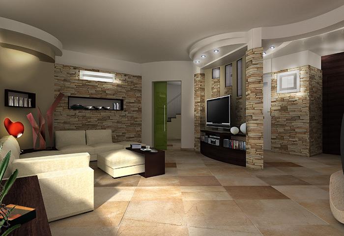 Salotto Con Parete Attrezzata Rivestita In Marmo Interior Design : Nicchie in pietra best dav with free