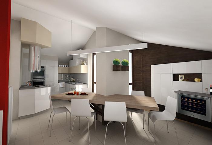 Quinta dimensione design studio massimo salvagno for Soggiorno cucina open space