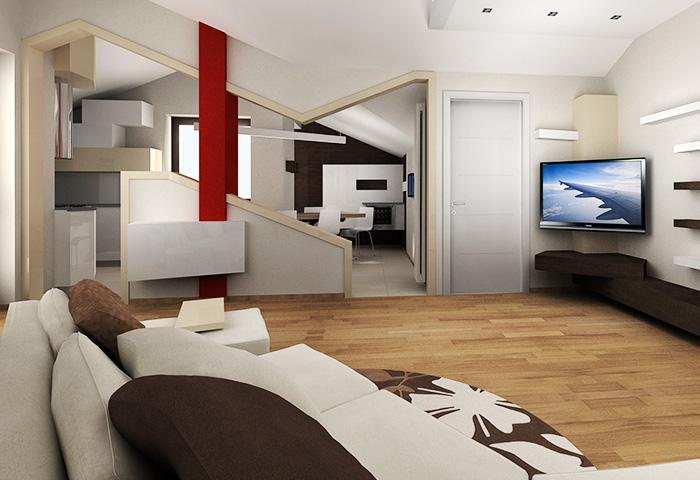 Cucina soggiorno open space progetto design casa for Open space moderni