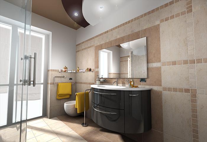 Bagno Legno E Mosaico : Quinta dimensione design studio massimo salvagno